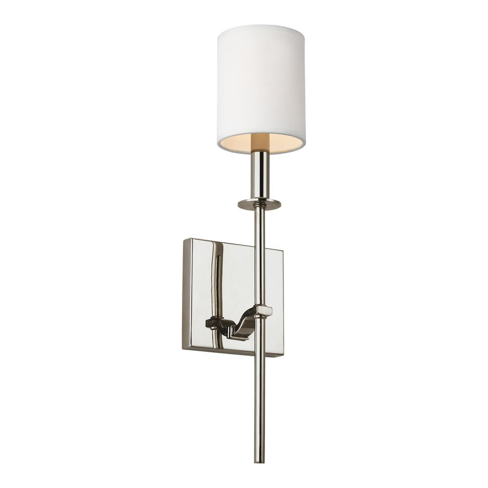 sconce nickel andrew arc wall polished regina lighting design