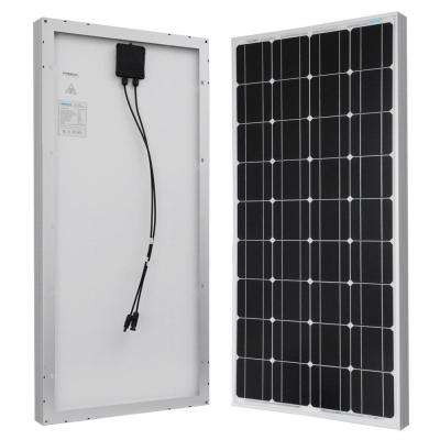 100-Watt 12-Volt Monocrystalline Solar Panel for RV, Boat, Back-Up System, Off-Grid Application