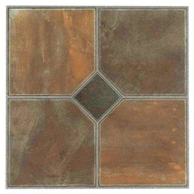 Nexus Rustic Slate 12 in. x 12 in. Peel and Stick Vinyl Tile (20 sq. ft. / case)