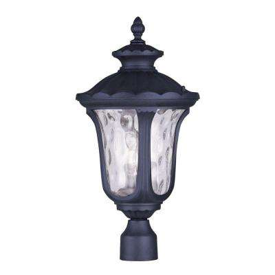 Oxford 3-Light Outdoor Black Post Head Lantern