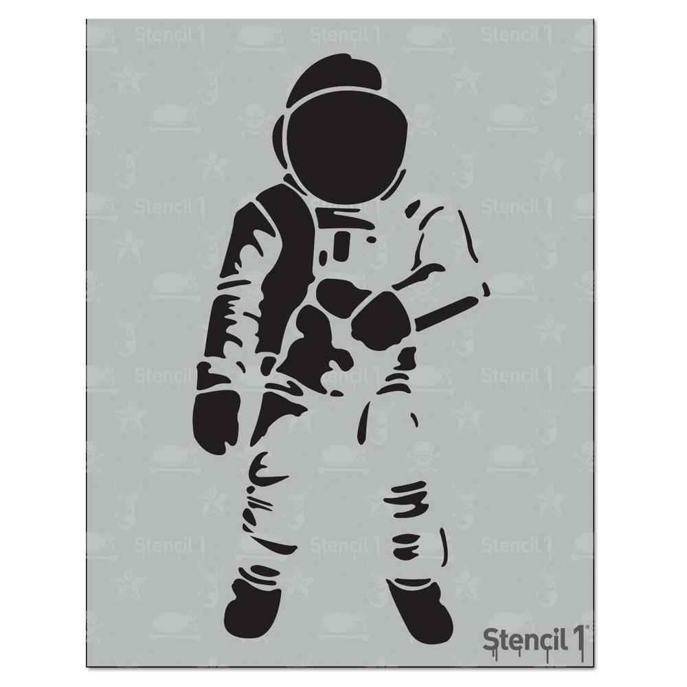 simple astronaut stencil - photo #5