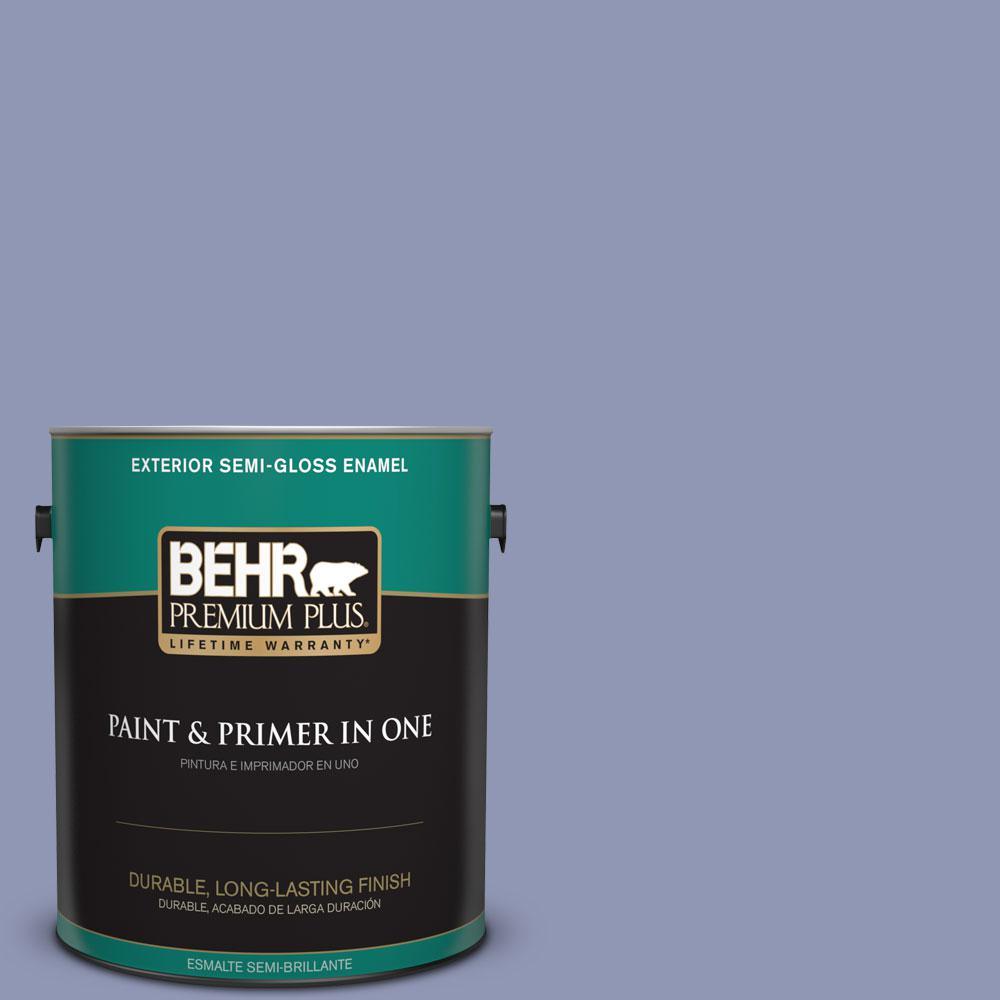 1-gal. #S540-4 Vintage Ribbon Semi-Gloss Enamel Exterior Paint