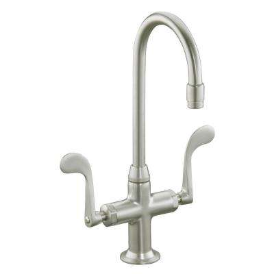 Essex 1 or 3-Hole 2-Handle Bar Faucet in Vibrant Brushed Nickel