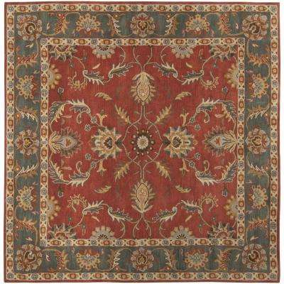 Chenni Burgundy 10 ft. x 10 ft. Square Indoor Area Rug