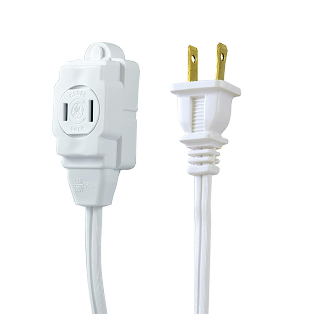 GE 12 ft. 2-Wire 16-Gauge Polarized Indoor Extension Cord-51954 ...