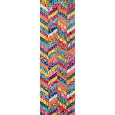 Shante Multi 3 ft. x 8 ft. Runner Rug