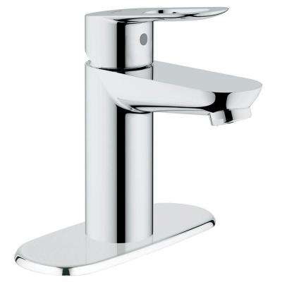 BauLoop Basin Mixer 4 in. Centerset Single Handle OHM Bathroom Faucet in StarLight Chrome with Escutcheon