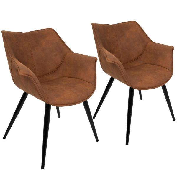 Lumisource Wrangler Rust Accent Chair (Set Of 2) CH-WRNG