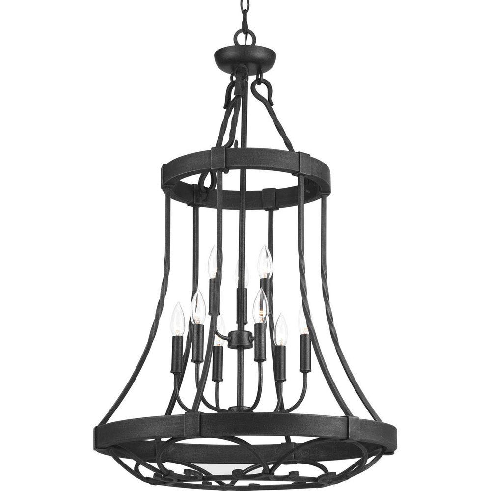 progress lighting enclave collection 9 light gilded iron chandelier