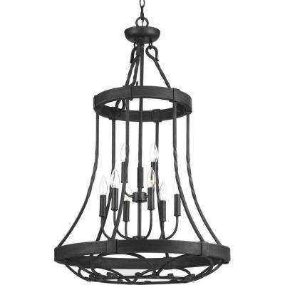 Enclave Collection 9-Light Gilded Iron Chandelier