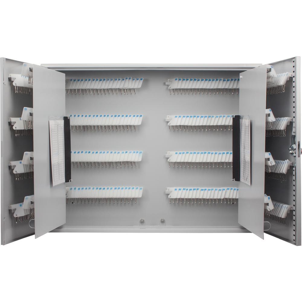 480-Position Steel Key Cabinet with Key Lock, Grey