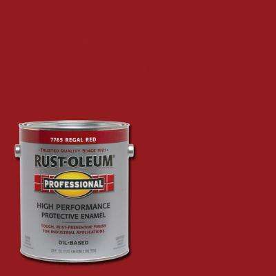 1 gal. High Performance Protective Enamel Gloss Regal Red Oil-Based Interior/Exterior Industrial Paint (2-Pack)