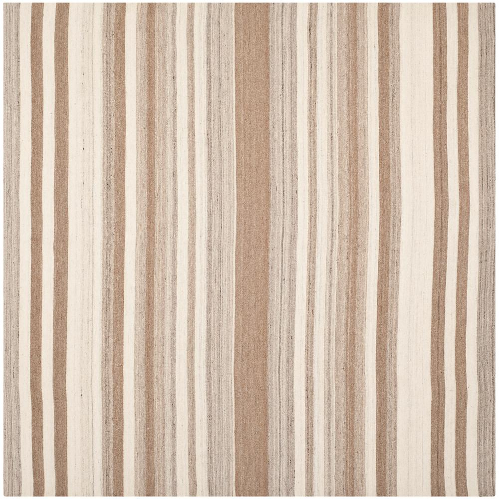 Dhurries Natural/Camel 7 ft. x 7 ft. Square Area Rug