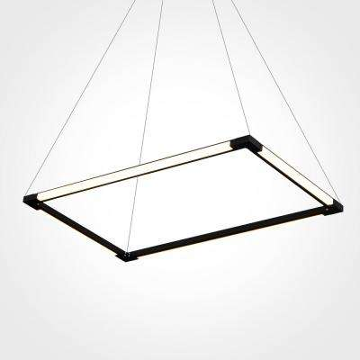 Atria 170-Watt Integrated LED Black Chandelier