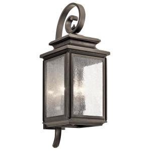 Wiscombe Park 4-Light Olde Bronze Outdoor Wall Mount Sconce with Clear Seeded Glass