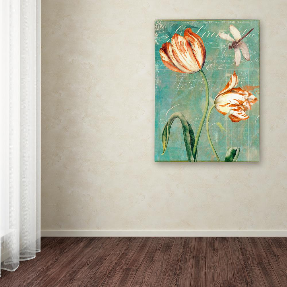 """32 in. x 24 in. """"Tulips Ablaze I"""" by Color Bakery"""
