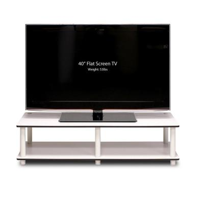 Just No Tools White Wide Television Stand