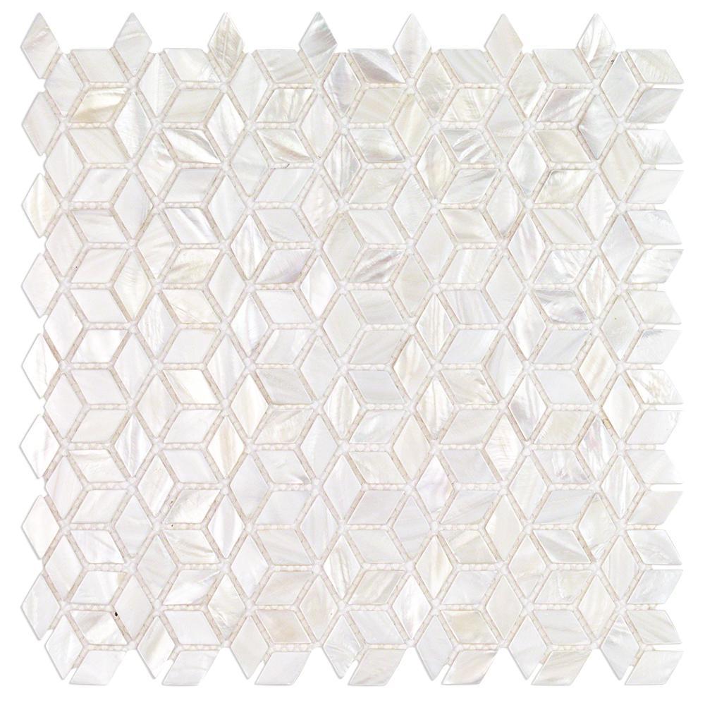 Splashback Tile Pacif White Illusion 11 81 In X 2 Mm
