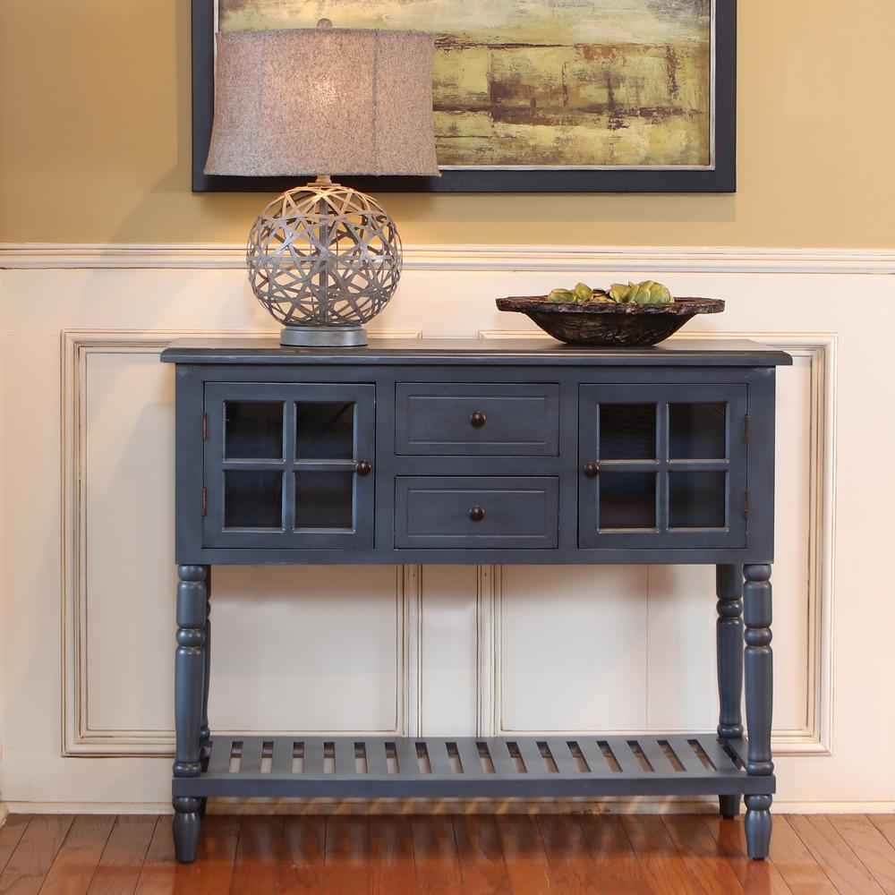charming Accent Tables For Living Room Part - 2: Morgan Navy 2-Door Console Table