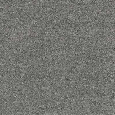 Peel and Stick First Impressions Flat Sky Grey 24 in. x 24 in. Commercial Carpet Tile (15 Tiles/Case)