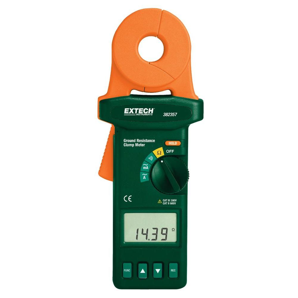 Battery Tester Home Depot : Extech instruments clamp on ground resistance digital