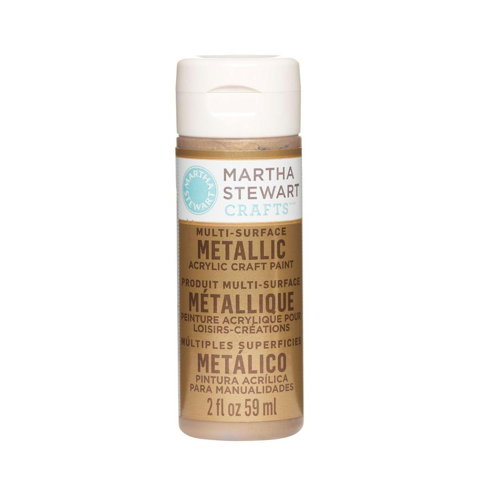 Martha Stewart Crafts 2-oz. Brushed Bronze Multi-Surface Metallic Acrylic Craft Paint