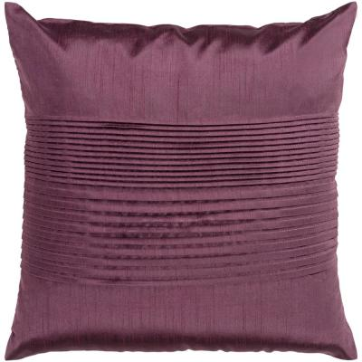Virgili Purple Solid Polyester 22 in. x 22 in. Throw Pillow