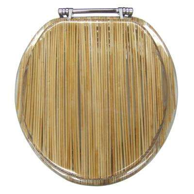 Ginsey Round Closed Front Toilet Seat in Resin Bamboo Shoots