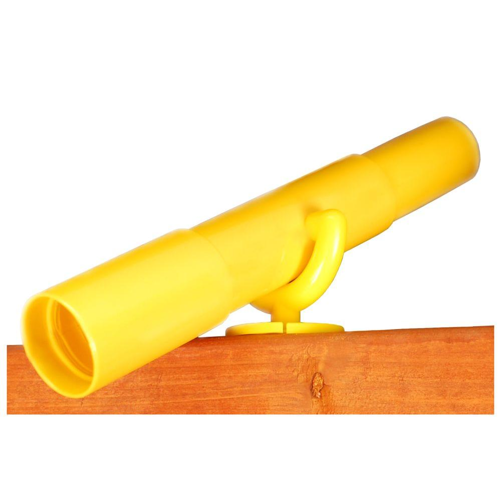 Gorilla Playsets Play Telescope with Mounting Bracket in Yellow