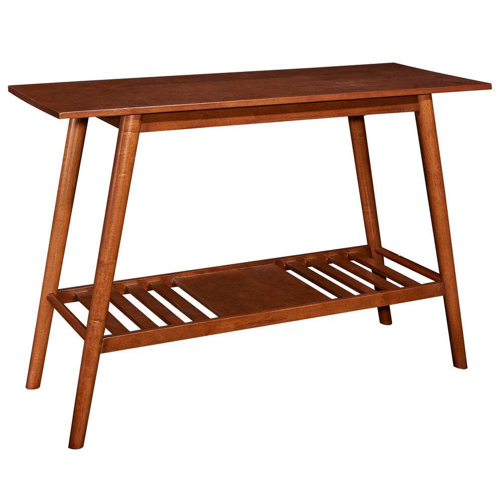 Linon Home Decor Cannon Brown Console Table