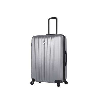 Magari 28 in. Silver Hard Side Spinner Suitcase