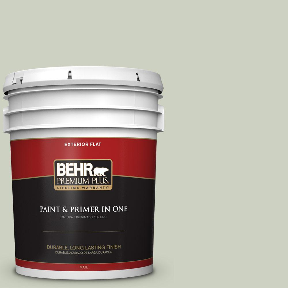 5 gal. #PPU10-11 Sliced Cucumber Flat Exterior Paint