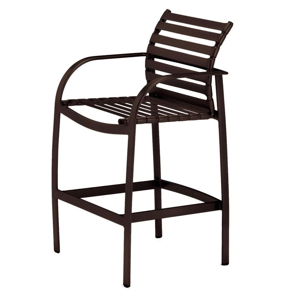 Tradewinds Scandia Java Commercial Strap Patio Bar Stool