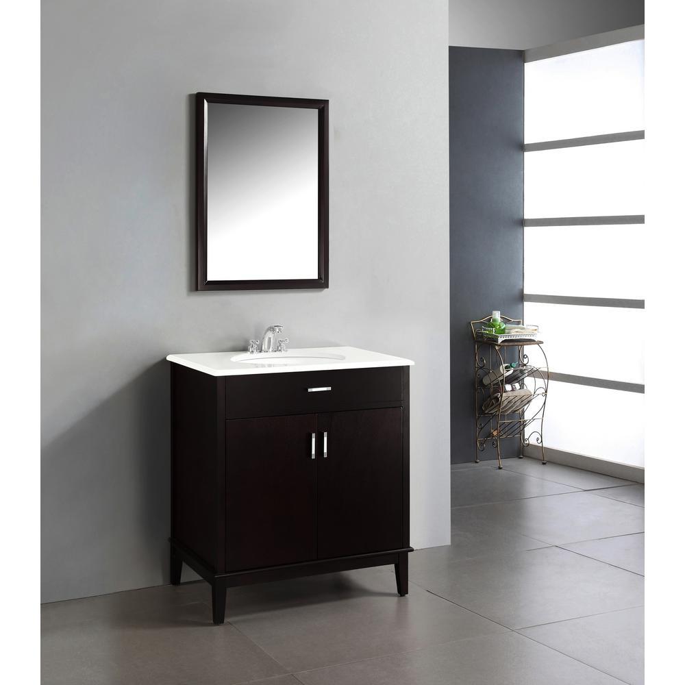 Simpli home urban loft 30 in vanity in espresso brown for Bathroom cabinets urban ladder