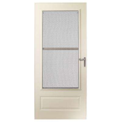 36 in. x 80 in. 300 Series Almond Universal Triple-Track Aluminum Storm Door with Nickel Hardware
