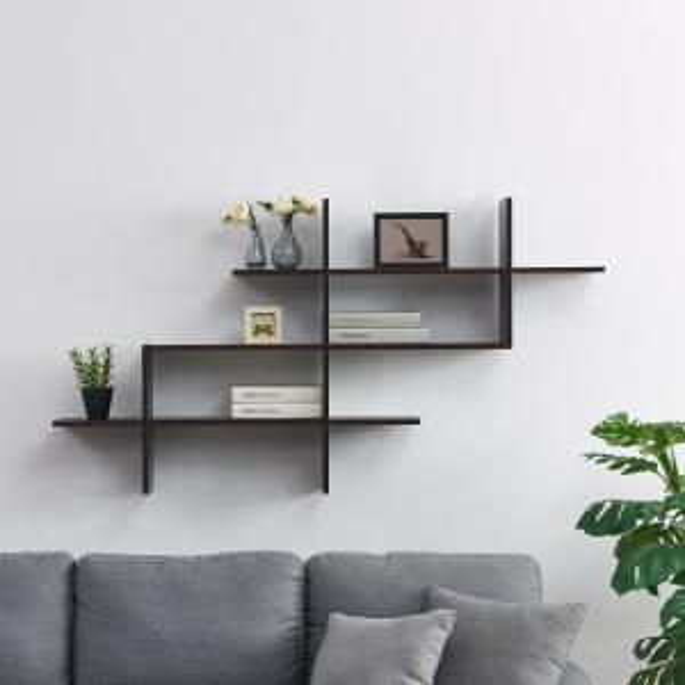 premium selection 41607 c7389 DANYA B Hanover Walnut MDF Wood Elongated Decorative Wall ...