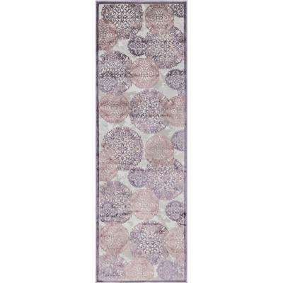 Aberdeen Chatsworth Violet 2 ft. 7 in. x 8 ft. 2 in. Runner Rug