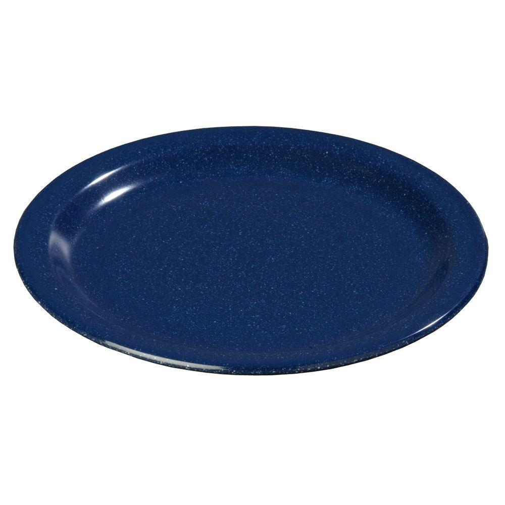7.25 in. Diameter Melamine Salad Plate in Cafe Blue (Case of 48)