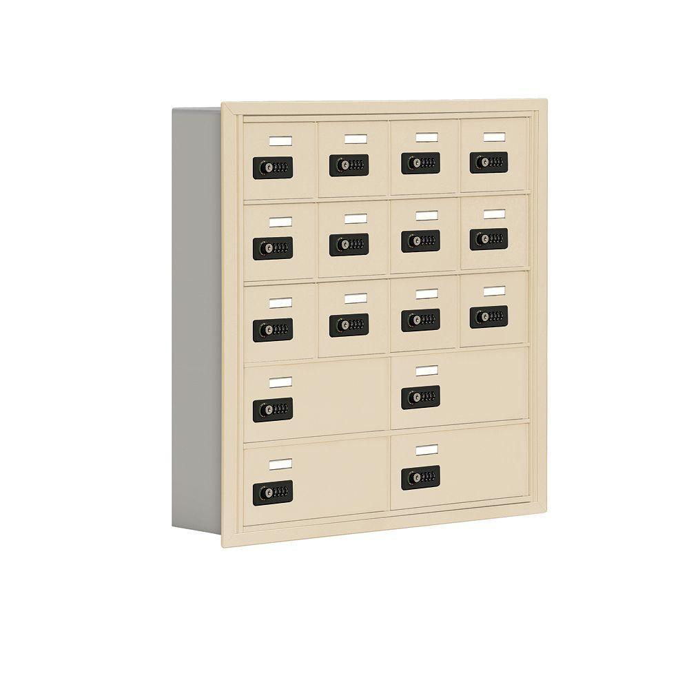 Salsbury Industries 19000 Series 30.5 in. W x 31 in. H x 5.75 in. D 12 A/4 B Doors R-Mount Resettable Locks Cell Phone Locker in Sandstone