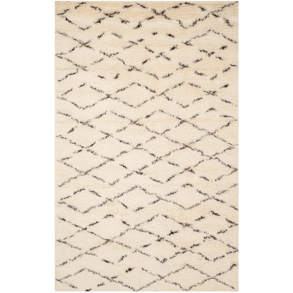Casablanca Ivory/Brown 6 ft. x 9 ft. Area Rug