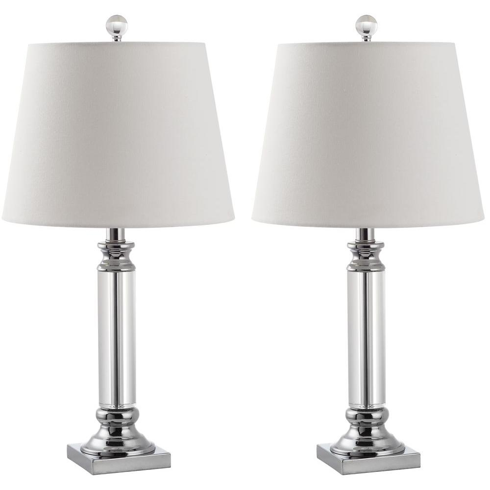 Safavieh zara 235 in clear crystal table lamp set of 2 lit4098a clear crystal table lamp set of 2 aloadofball Choice Image