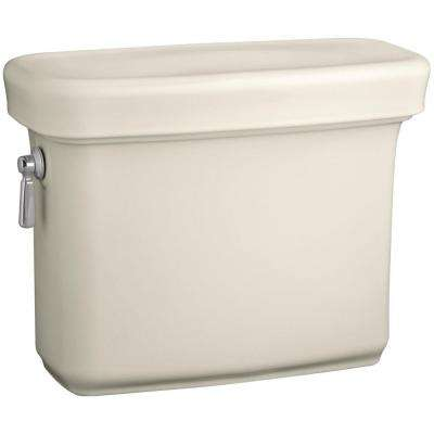 Bancroft 1.28 GPF Single Flush Toilet Tank Only with AquaPiston Flush Technology in Biscuit