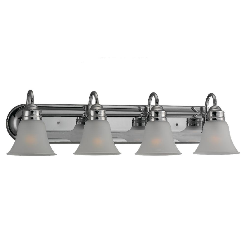 Moving Bathroom Vanity Light: Filament Design 4-Light Chrome Vanity Light With Acid