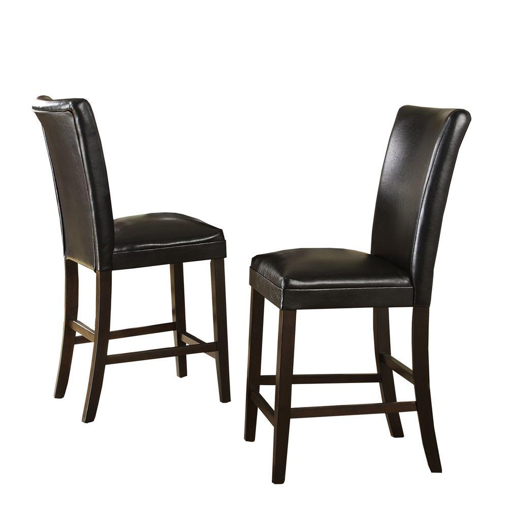 HomeSullivan 24 in. Dark Brown Counter Chair (Set of 2) - DISCONTINUED