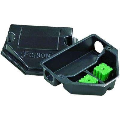 Mouse Sized Plastic Bait Station with Solid Lid (50-Pack)
