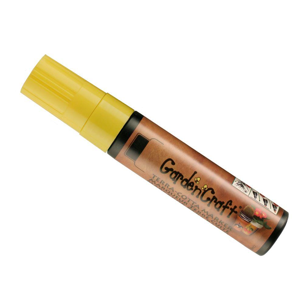 Marvy Uchida Garden Craft Yellow Jumbo Terra-Cotta Marker