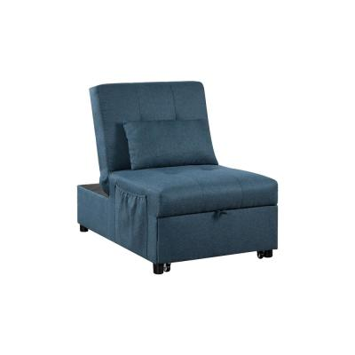 Norley Blue Futon with Pillow