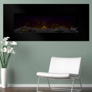 Northwest 50 inch Wall-Mount Color Changing LED Electric Fireplace in Black by Northwest
