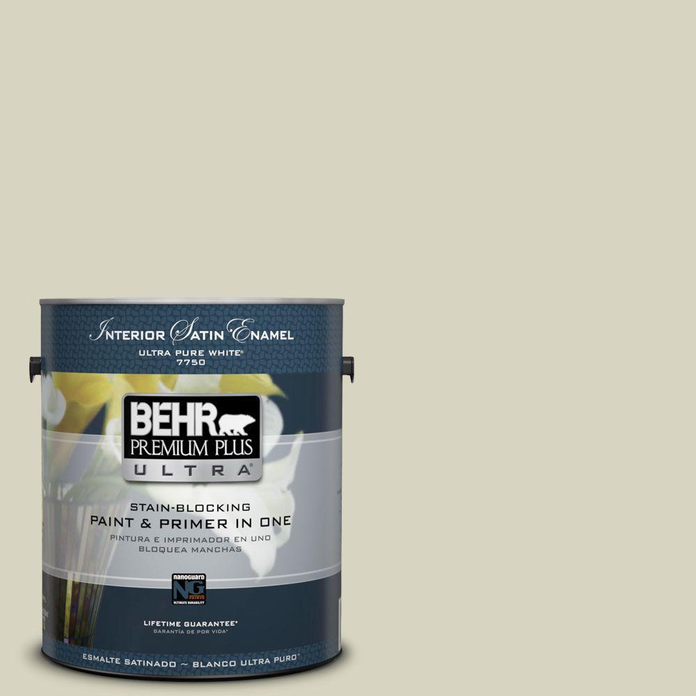 BEHR Premium Plus Ultra 1-gal. #HDC-SM14-9 Thin Mint Satin Enamel Interior Paint