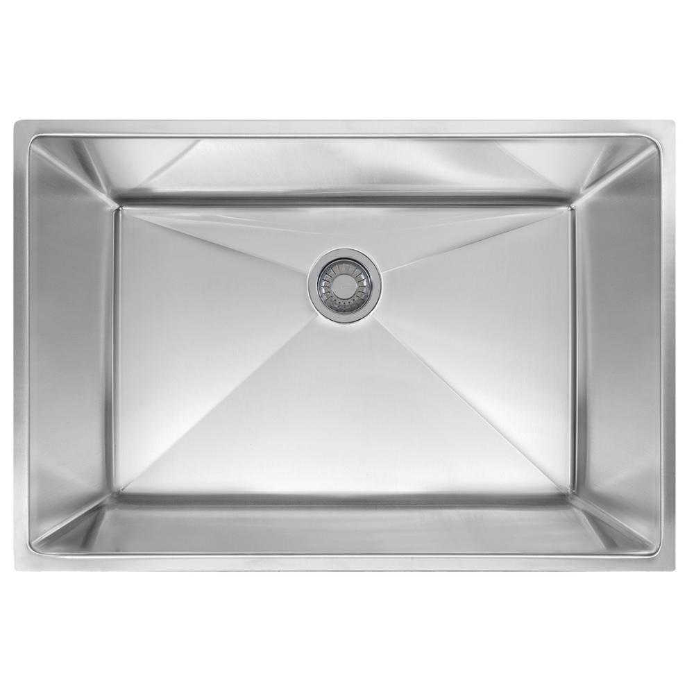 Planar 8 Undermount Stainless Steel 29.5 in. x 18.5 in. Single Bowl Kitchen Sink